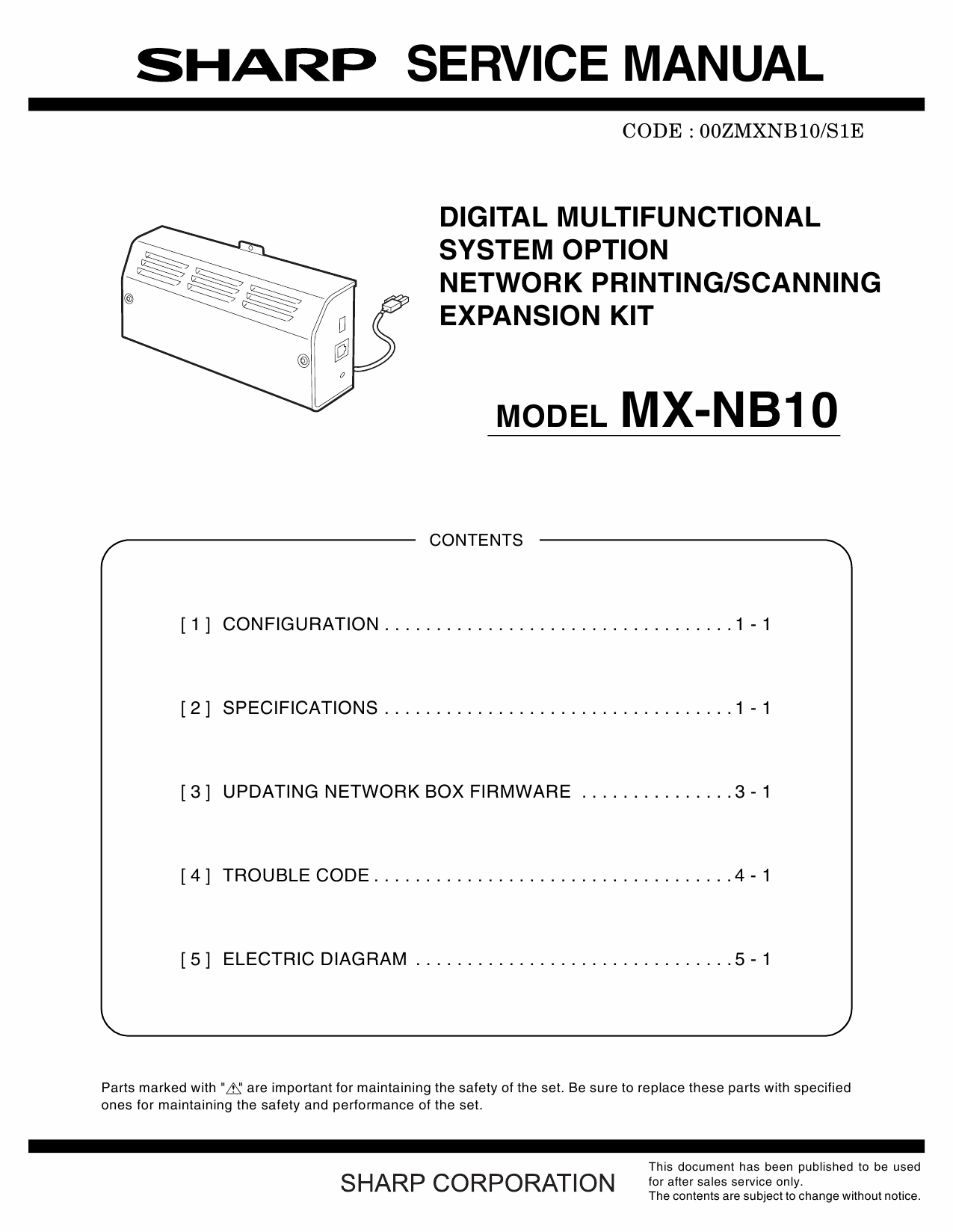 SHARP MX NB10 Service Manual-1